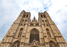 Cathedral in Brussels, Belgium Royalty Free Stock Photography