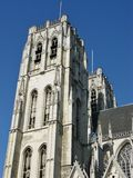 The cathedral of Brussels in Belgium Stock Image