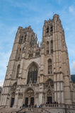 Cathedral of  Brussels Belgium Royalty Free Stock Images