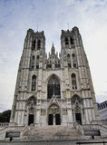 Cathedral in Brussels, Belgium Stock Photos