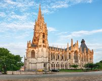 Cathedral in Brussels, Notre Dame in Belgium, front view Stock Photo