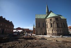 Cathedral building site Stock Image