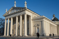 Cathedral building in winter time, Vilnius, Lithuania Royalty Free Stock Photos