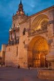 Cathedral of Burgo de Osma. Twilight view of the Cathedral of Burgo de Osma Stock Photos