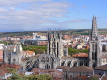 Cathedral of Burgos Stock Images