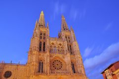 Cathedral of Burgos. Royalty Free Stock Images