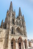 The cathedral of Burgos, one of the most majestic gothic cathedrals in Spain stock images