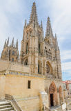 Cathedral of Burgos entrance Stock Photography