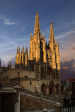 Cathedral of Burgos. Gothic cathedral of Burgos, Spain at sun down Stock Photography