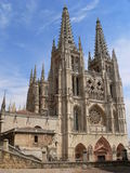 Cathedral, Burgos ( Spain ). View of the gothic Cathedral in Burgos, Spain Stock Images