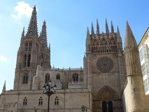 Cathedral, Burgos ( Spain ). View of the gothic Cathedral in Burgos, Spain Royalty Free Stock Photos
