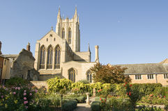 Cathedral, Bury St Edmunds. View from the rose garden of Bury St Edmunds Cathedral, Suffolk Royalty Free Stock Images