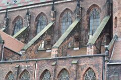 Cathedral buttresses Royalty Free Stock Photo