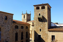 Cathedral of Caceres, Spain Royalty Free Stock Photography
