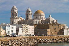 Cathedral of Cadiz. View from south to the cathedral of Cadiz, spain Stock Photos