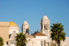 Cathedral in Cadiz Royalty Free Stock Photos