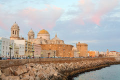 Cathedral in Cadiz Stock Images