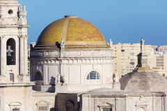 Cathedral of Cadiz. Aerial photo. Cadiz, Andalusia, Spain Stock Photography