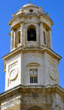 Cathedral of Cadiz is placed in the centre of old town. Stock Photos