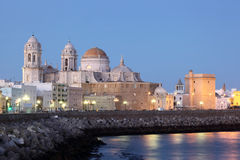 Cathedral in Cadiz, Spain Royalty Free Stock Photos