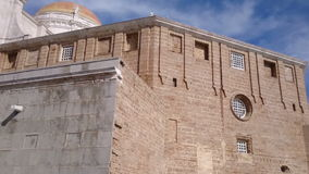 Cathedral of Cadiz in Spain stock video