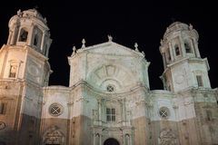 The Cathedral of Cadiz, Spain Stock Image