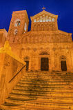 Cathedral of Cagliari (Sardinia, Italy) at night Stock Image