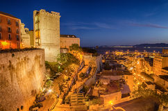 Cathedral of Cagliari (Sardinia, Italy) at night Stock Photos