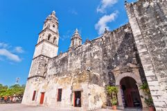 Cathedral in Campeche, Mexico Royalty Free Stock Images