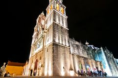 Cathedral in Campeche, Mexico Stock Photos