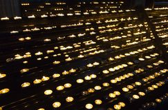 Cathedral Candles Stock Photo