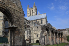 The Cathedral of Canterbury in a sunny day Stock Images