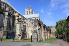 The Cathedral of Canterbury in a sunny day Royalty Free Stock Photography