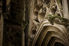 Cathedral of Carcassonne, France, gargoyle detail Stock Photo