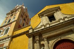 Cathedral in Cartagena stock photography