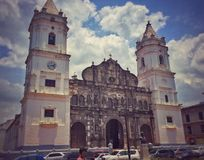 Cathedral in Casco Viejo Stock Photography