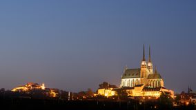 Cathedral and castle in Brno, Czech Republic royalty free stock images