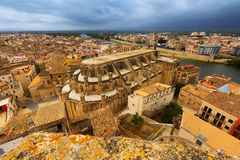 Cathedral from  castle in Tortosa Royalty Free Stock Images
