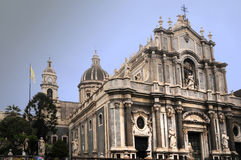Cathedral Catania. Saint Agata Cathedral in Catania, Sicily stock image