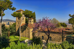 Cathedral of the Catholic monastery in Spain Royalty Free Stock Photos