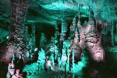 Cathedral caverns. The cathedral room of a cave in northern alabama stock image