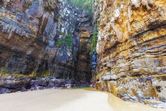 Cathedral Caves, Catlins, New Zealand Stock Photography
