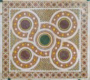 Romanic mosaic in Cefalù Catheral. Sicily, southern Italy. stock images