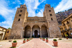 The Cathedral of Cefalù, Sicily, Italy. Royalty Free Stock Images
