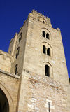 Cathedral of Cefalu. Tower at the historic Cathedral of Cefalu, Sicily royalty free stock photography