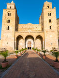 The cathedral of Cefalu in Sicily Stock Image