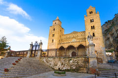 The Cathedral of Cefalu, Sicily, Italy Stock Images