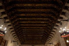 Cathedral ceiling. In Valencia, Spain Royalty Free Stock Image