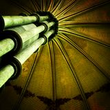 Cathedral Ceiling. A beautiful ceiling of the Salisbury Cathedral in Wiltshire, UK Stock Images
