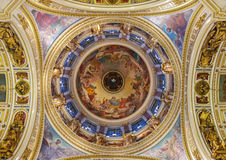 Cathedral ceiling with ornament Royalty Free Stock Images
